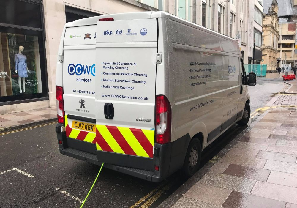 CCWC Service Van Parked On The Street During A Job