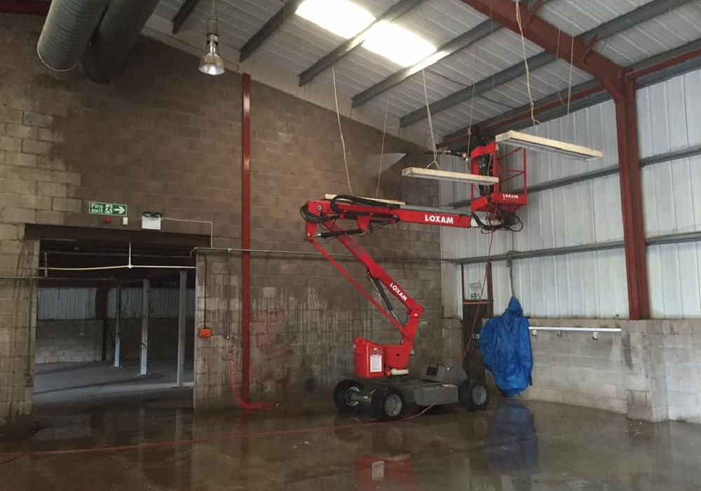 Commercial Cleaning Lift Indoors