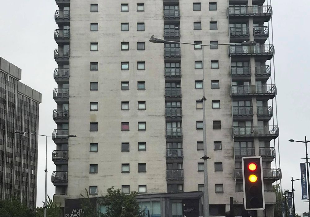 Block Of Flats In Swansea Wales