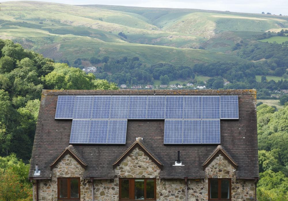 Solar Panels On Country House