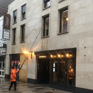 Pole-Fed Window Cleaning